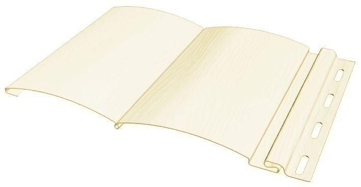 Сайдинг виниловый Fineber, блокхаус - слоновая кость