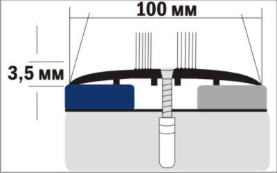 Порог Пластал А10 (100мм) Дуб деревенский (с отверстиями) изображение 3