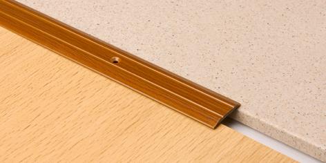 Порог Пластал А1 (25мм)  Дуб жемчужный (с отверстиями) изображение 2