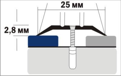 Порог Пластал А1 (25мм)  Вишня (с отверстиями) изображение 3