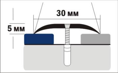 Порог Пластал А30 (30мм) Дуб мореный (с отверстиями) изображение 3
