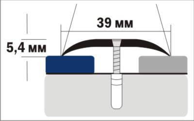 Порог Пластал А39 (39мм)   Дуб северный (с отверстиями) изображение 3