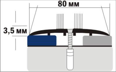 Порог Пластал А8 (80мм) Пробка (с отверстиями) изображение 3