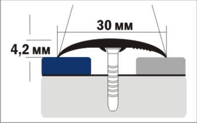Порог Пластал В1 (30мм)   Клен северный (без отверстий) изображение 3