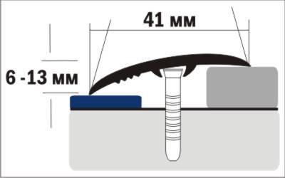 Порог Пластал В4 (40мм) Пробка (без отверстий) изображение 3