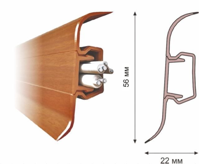 Плинтус Rico Leo 176 Венге (Рико Лео - 56мм) изображение 2